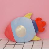 Spaceship Rocket Pillow Cushion Stuffed Star Dolls for Kids Gift
