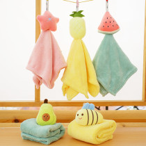 Cute Cartoon Yellow Chick Bee Bibulous Square Hanging Towel For Bathroom