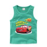 Toddler Boy Print Lightning Mcqueen Racing Cars Sleeveless Cotton Vest for Summber