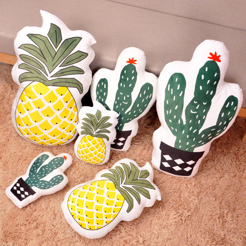 Cactus Pineapple Pillow Cushion Stuffed Dolls for Kids Gift
