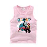 Toddler Boy Prints Thomas Train Sleeveless Cotton Vest for Summer