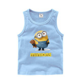Toddler Boy Print Minions Sleeveless Cotton Vest for Summer