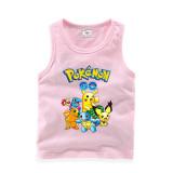 Toddler Boy Print GO Pikachu Pokemon Sleeveless Cotton Vest for Summer