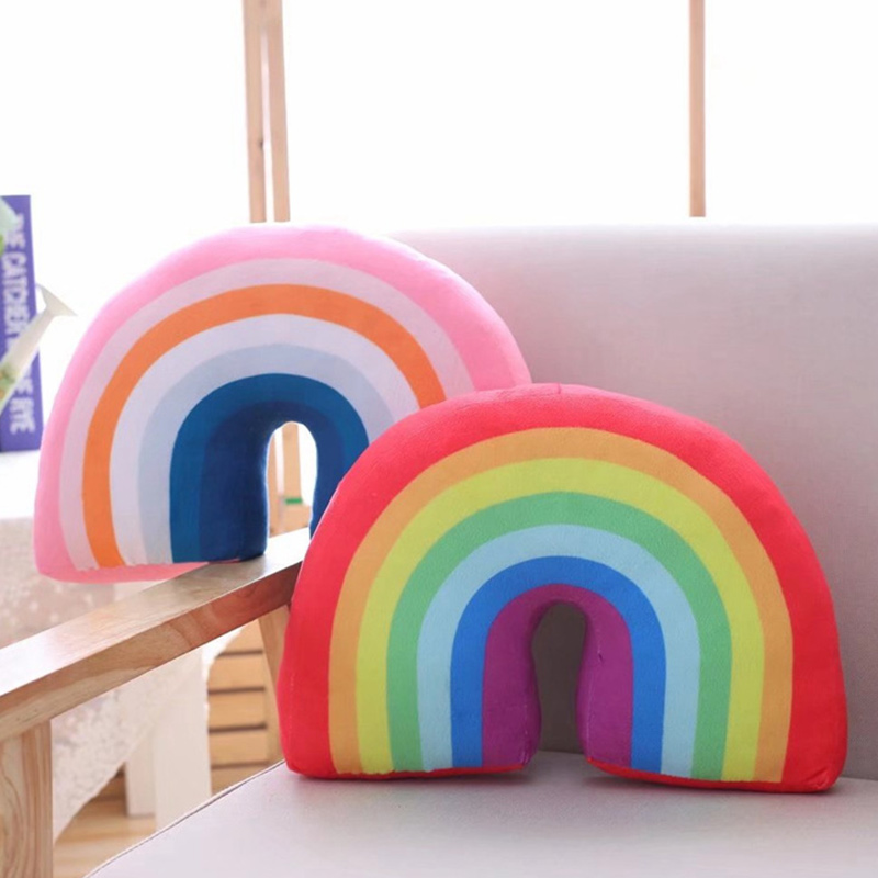 Rainbow Pillow Toys Home Sofa Cushions stuffed Dolls for Kids Gift