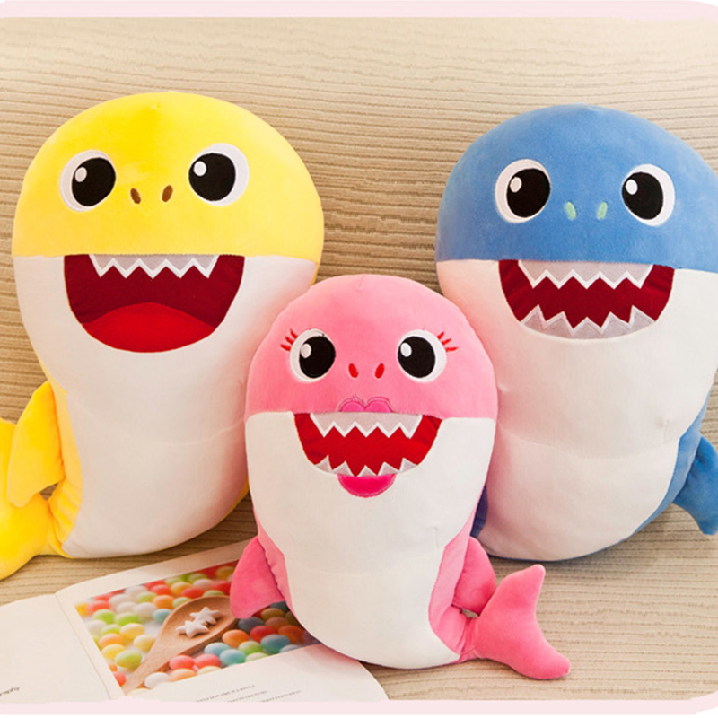 Cute Shark Soft Stuffed Plush Animal Doll for Kids Gift