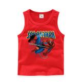 Toddler Boy Print Chain Marvel Spiderman Cotton Sleeveless Vest for Summer