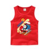 Toddler Boy Print Thomas Train Sleeveless Cotton Vest for Summer