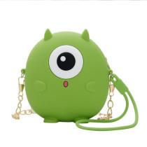 Cute Cartoon Monster Silicone Mini Single Shoulder Bag