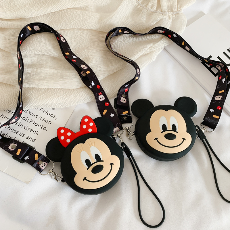 Cute Cartoon Mickey Mouse Silicone Mini Single Shoulder Bag