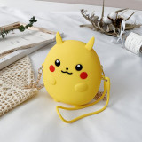 Cute Cartoon Pikachu and Monster Silicone Mini Single Shoulder Bag