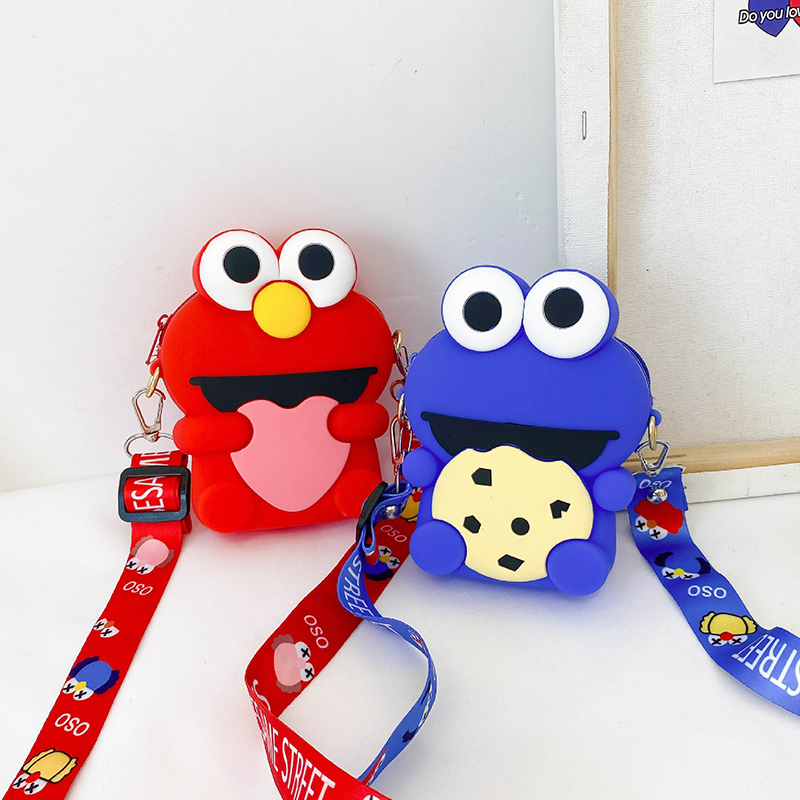 Cute Cartoon Sesame Street Silicone Mini Single Shoulder Bag