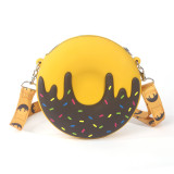 Cute Cartoon Donut Silicone Mini Single Shoulder Round Bag Mommy and Me Bag