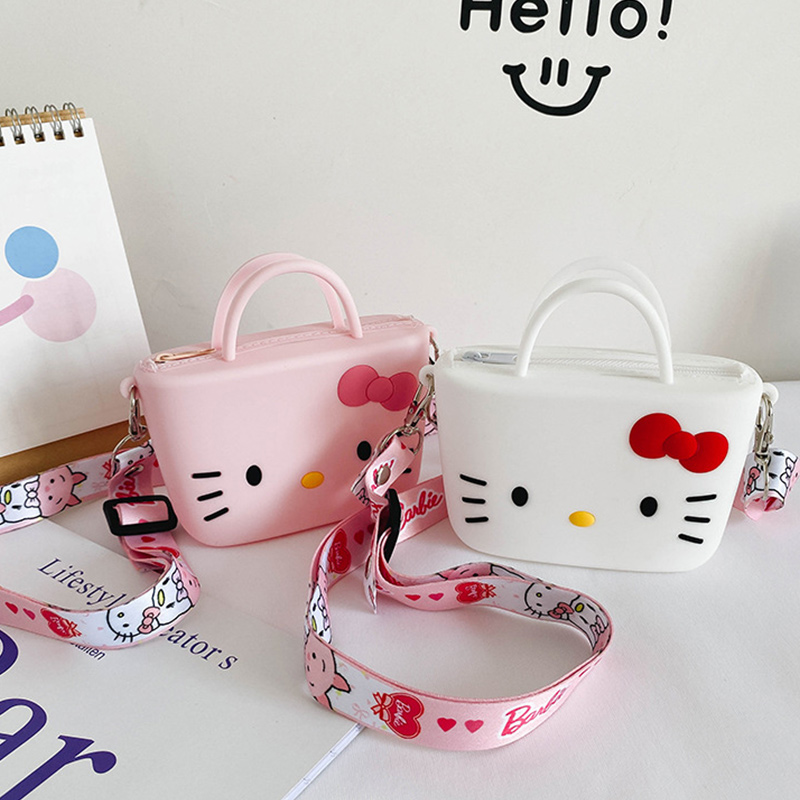 Cute Cartoon Hellokitty Silicone Mini Single Shoulder Square package