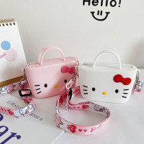 Cute Cartoon Hellokitty Silicone Mini Single Shoulder Square package