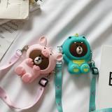 Cute Cartoon Animal Silicone Mini Single Shoulder Bag