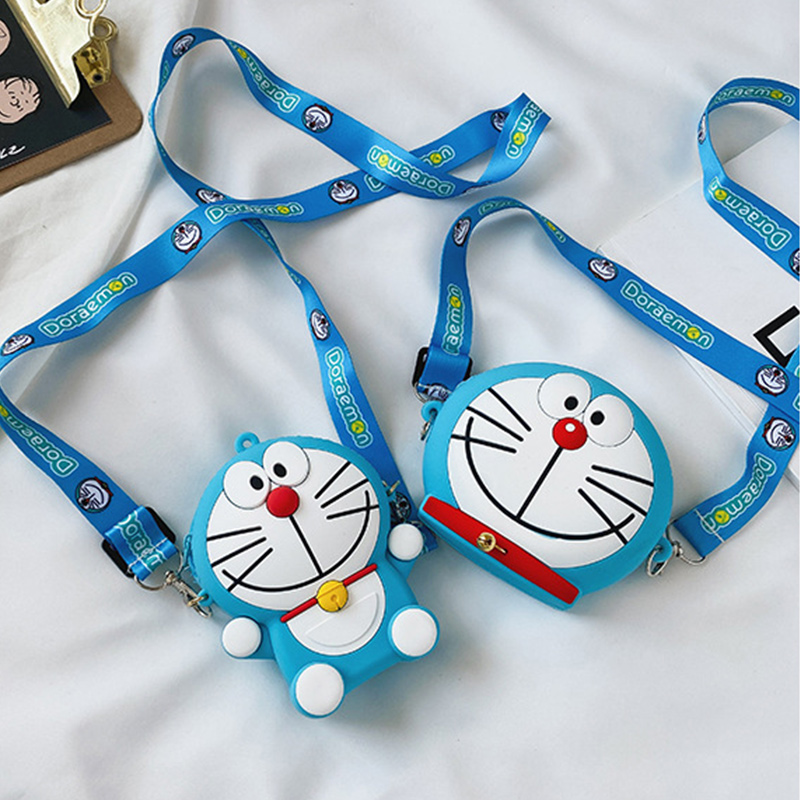 Cute Cartoon Doraemon Silicone Mini Single Shoulder Bag