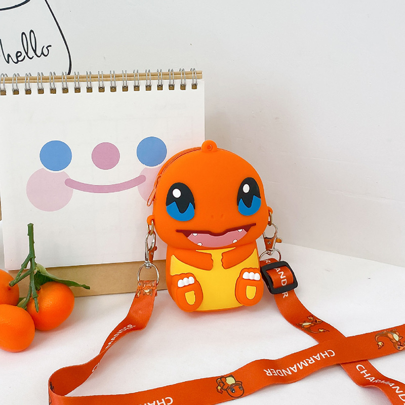 Cute Cartoon Pokemon Silicone Mini Single Shoulder Bag