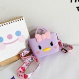 Cute Cartoon Chick Silicone Mini Single Shoulder Square package