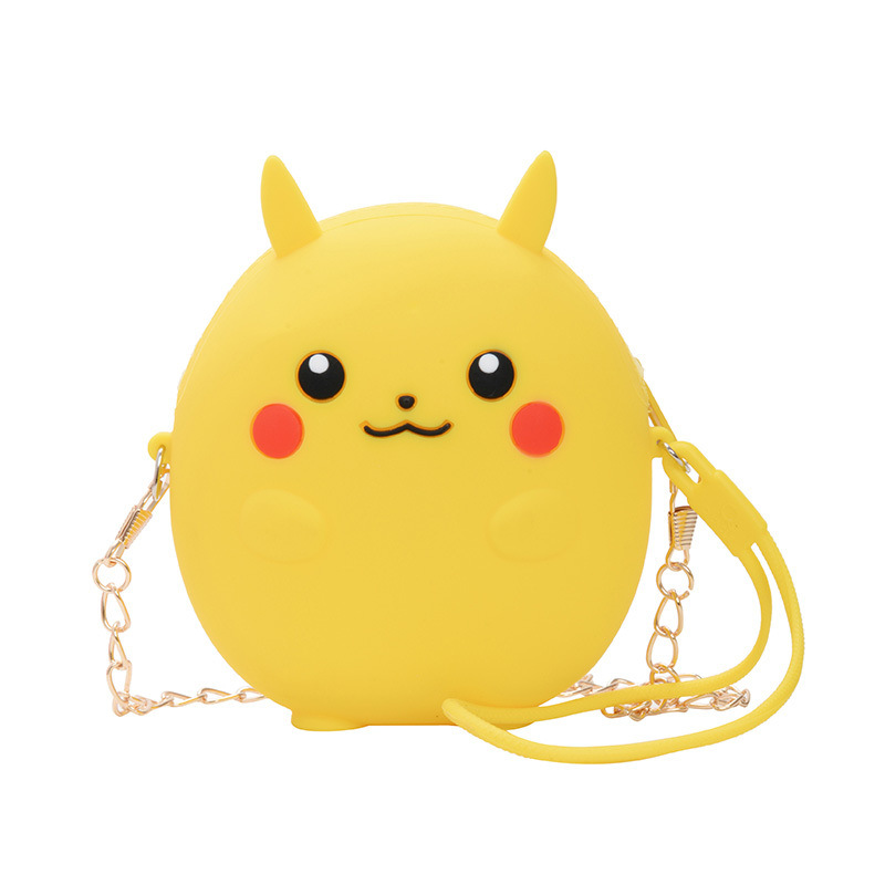 Cute Cartoon Pikachu and Monster Silicone Mini Single Shoulder Bag