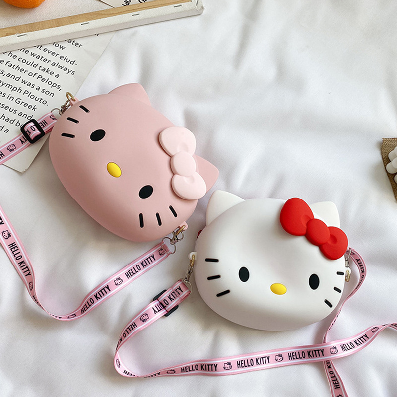 Cute Cartoon Hello Kitty Silicone Mini Single Shoulder Bag