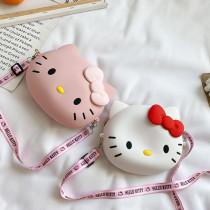 Cute Cartoon Hello Kitty Silicone Mini Single Shoulder Bag