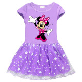 Toddler Girls Minnie Mouse A-Line Lace Tutu Dresses