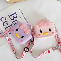 Cute Cartoon Chick Silicone Mini Single Shoulder Square package