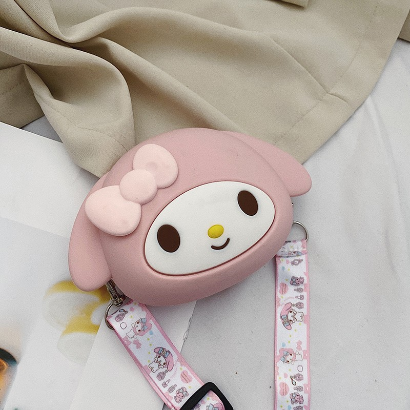 Cute Cartoon Rabbit Silicone Mini Single Shoulder Bag