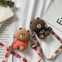 Cute Cartoon Bear Silicone Mini Single Shoulder Bag
