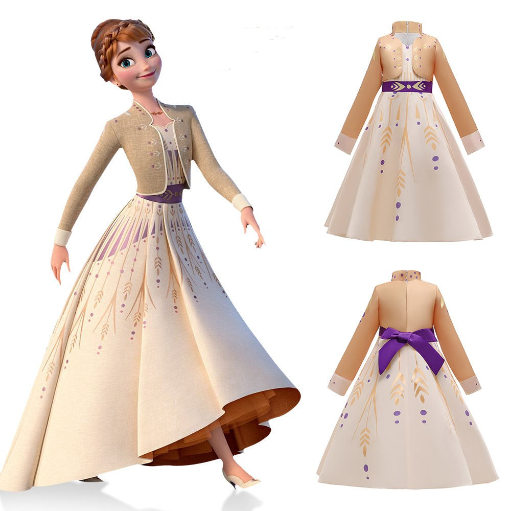 Toddler Girls Frozen 2 Elsa Champagne Princess Dress