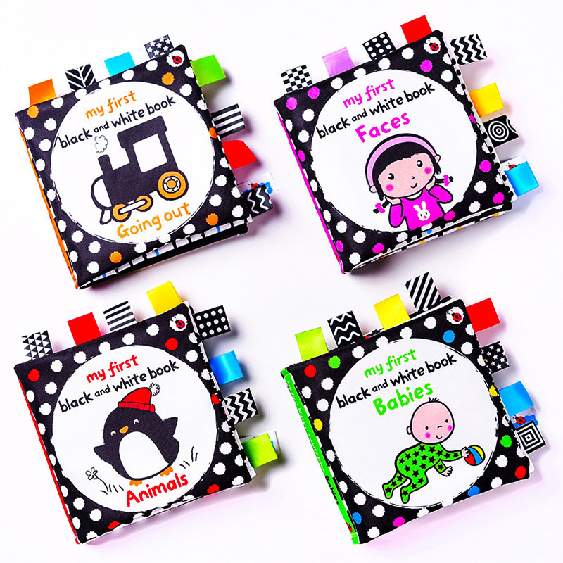 Baby's First Black And White Cognition Touch and Feel Soft Cloth Book