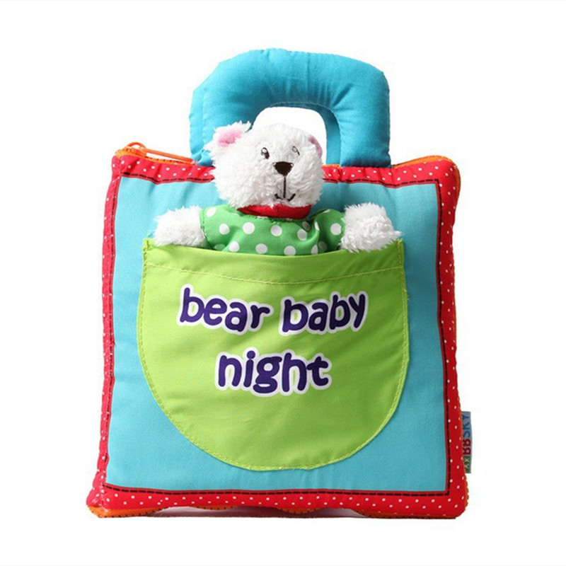 Baby's First 3D Toy Doll Bear Baby Night Cloth Book