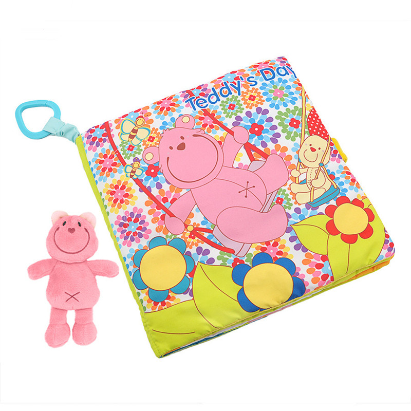 Baby's First 3D Teddy's Day Cloth Book