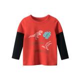 Toddler Kids Boys Prints Dinosaur Long Sleeves T-shirts