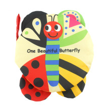Baby's First Touch and Feel Soft 3D Butterfly Learning Cloth Book