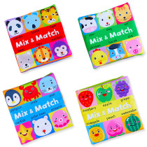Animal Head Mix and Match Baby's First Touch and Feel Soft Cloth Book