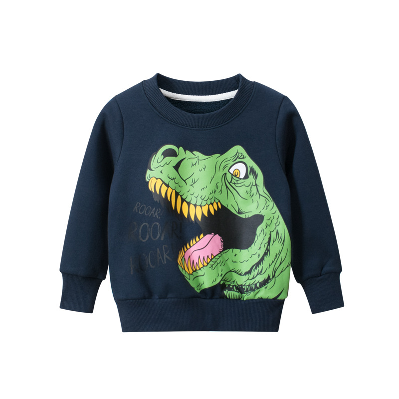 Toddler Kids Boys Prints Dinosaur Slogans Fleece Sweatshirt