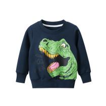 Toddler Kids Boys Prints Dinosaur Slogans Fleece Sweatshirt
