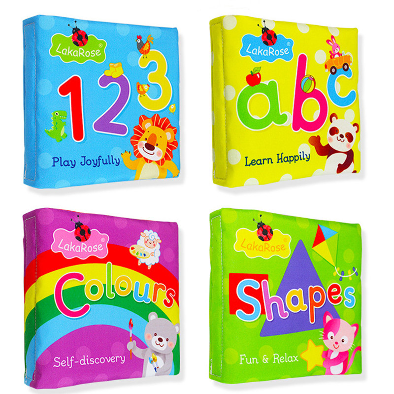 Baby's Learn Letters Colors Shapes First Touch and Feel Soft Cloth Book