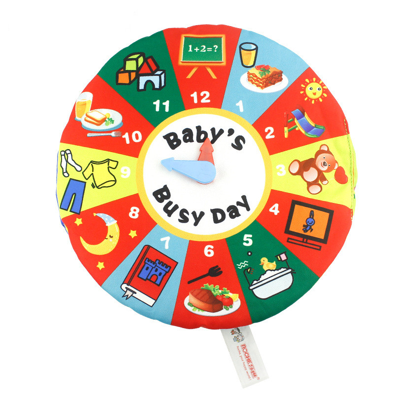 Baby's First Touch and Feel Soft Time Management Cloth Book