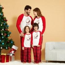Christmas Family Matching Sleepwear Pajamas Sets Hohoho Santa Claus Top and Red Plaids Pants