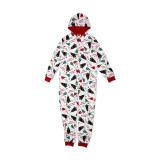 Christmas Family Matching Sleepwear Onesie Kigurumi Pajamas Prints Jingle Bells Hooded Jumpsuit