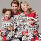 Christmas Family Matching Sleepwear Pajamas Sets Christmas Red Green Stripes Trees Top and Pants