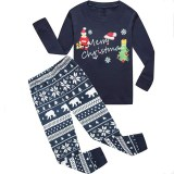 Christmas Family Matching Sleepwear Pajamas Sets Merry Christmas Santa Top and Snowflake Bear Pants