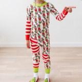 Christmas Family Matching Sleepwear Pajamas Sets White Printing Stripes Top and Pants