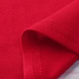 Christmas Family Matching Pajamas Christmas Red Deers Top and Plaid Pant