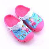 Toddle Kids 3D Angel Flowers Peppa Pig Home Beach Summer Slippers Shoes