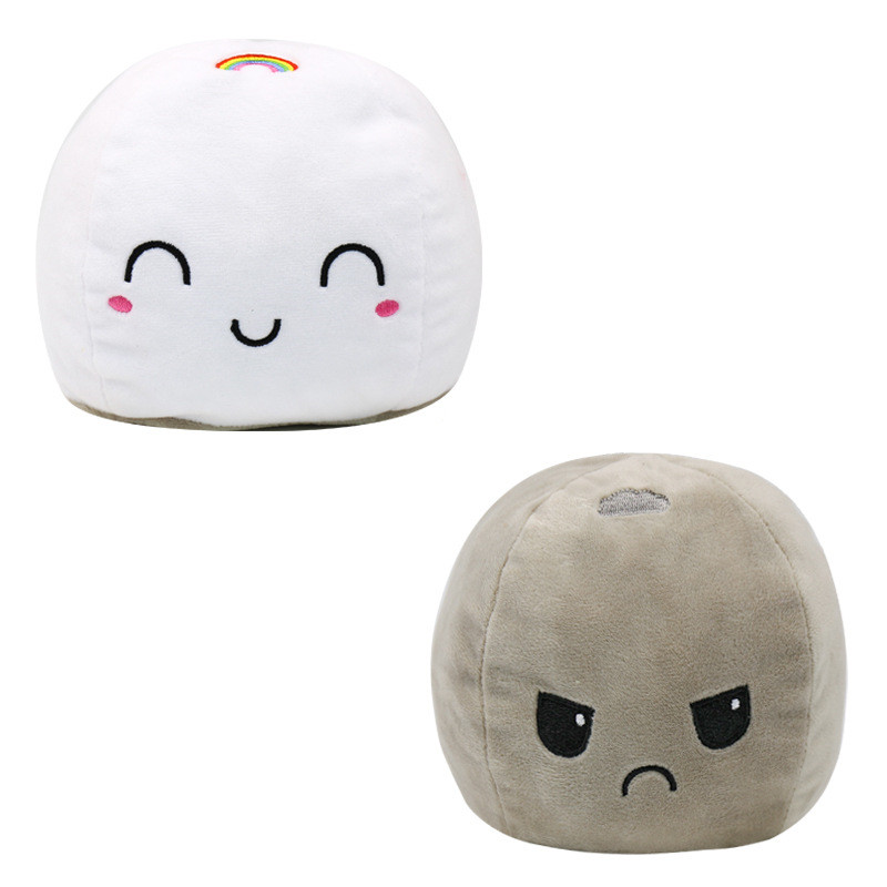 The Original Reversible Clouds Patented Design Soft Stuffed Plush Animal Doll for Kids Gift