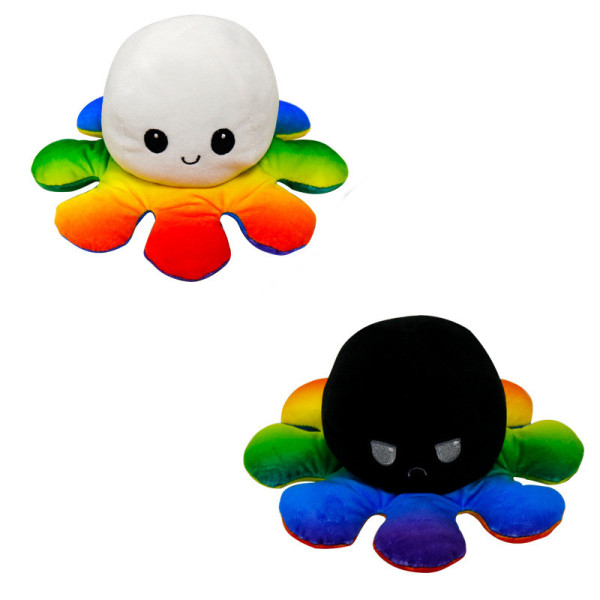 The Original Reversible Octopus Gradient Plushie Soft Stuffed Plush Animal Doll for Kids Gift