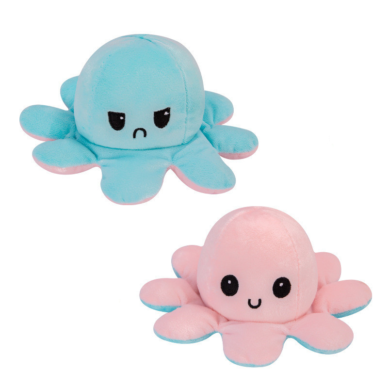 The Original Reversible Octopus Plushie Soft Stuffed Plush Animal Doll for Kids Gift